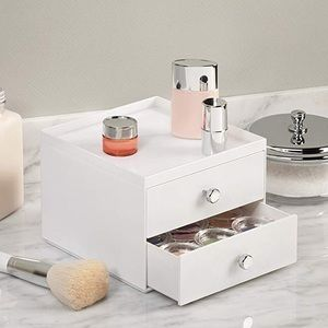 white interdesign vanity organizer